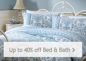 Up to 40% off Bed and Bath