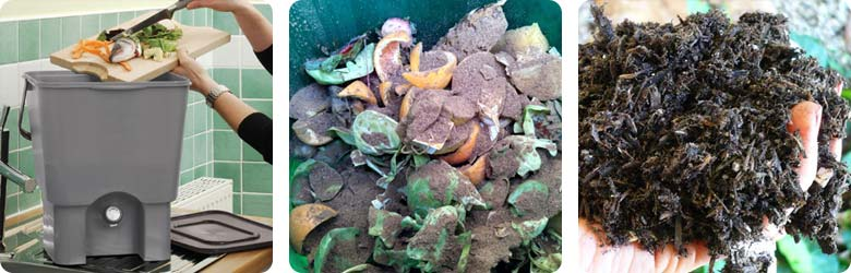 The bokashi composting process