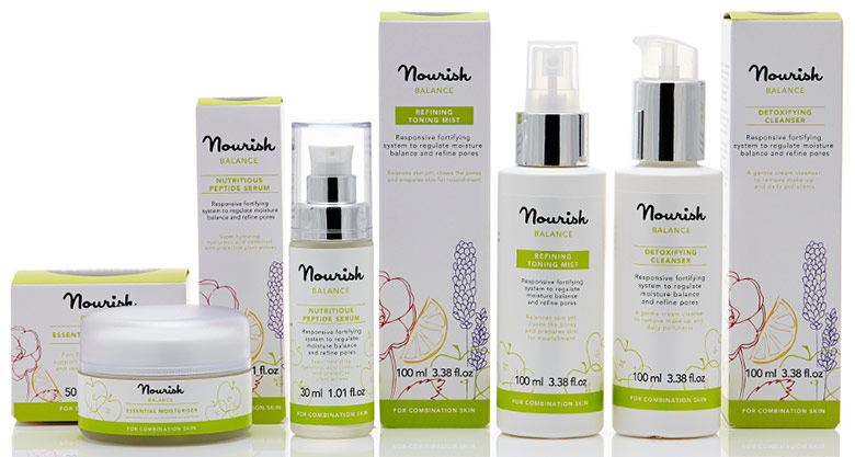 Nourish beauty and skincare range