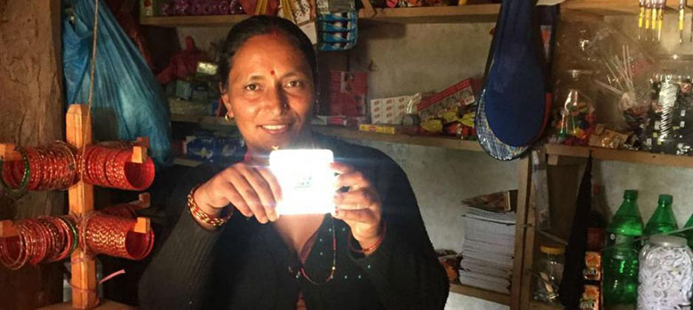 DEC Nepal appeal image - Prabha solar light