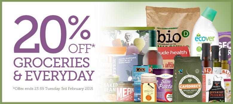 20% Off Groceries <br />& Everyday