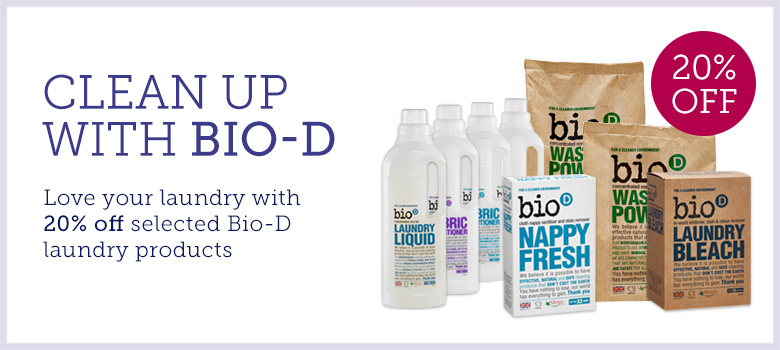 20% off selected Bio-D Laundry products