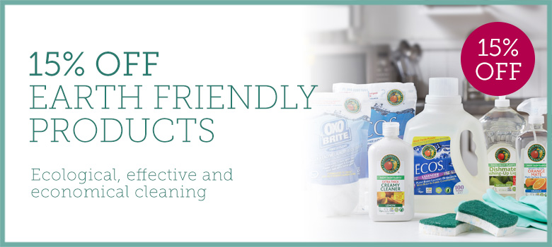 15% off Earth Friendly Products