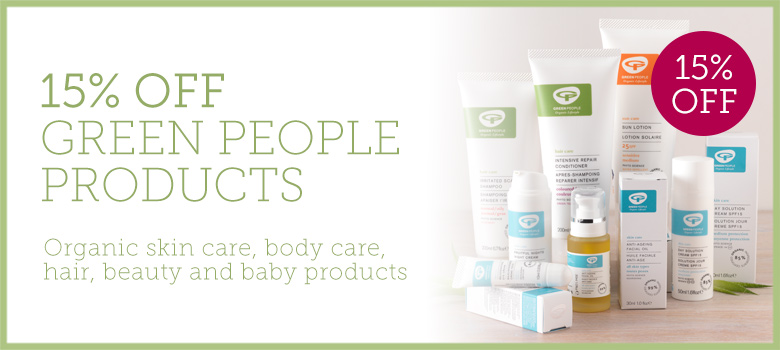 15% off Green People skincare