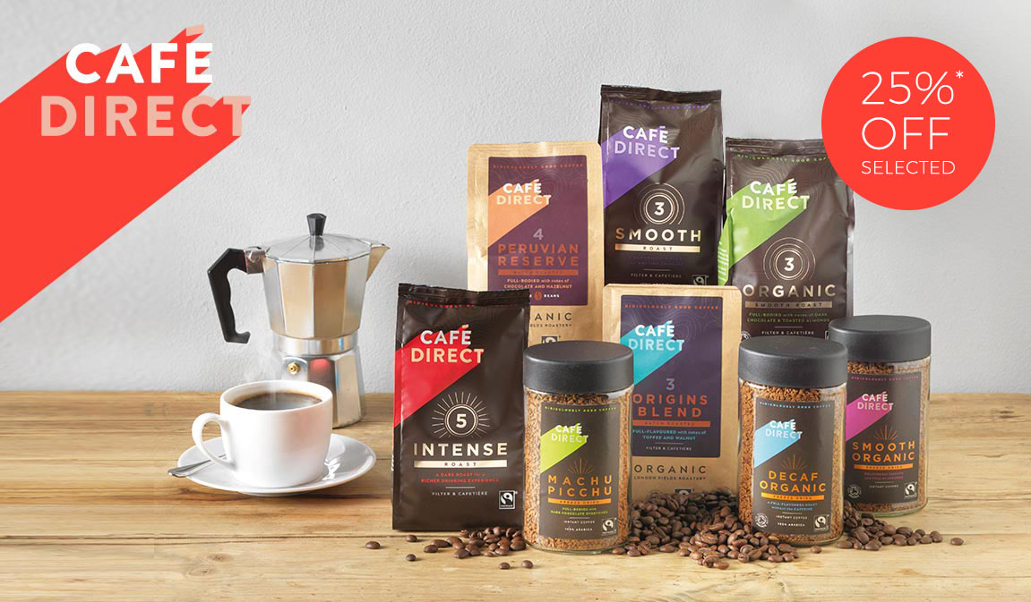 Cafédirect - Ridiculously good coffee up to 25% off