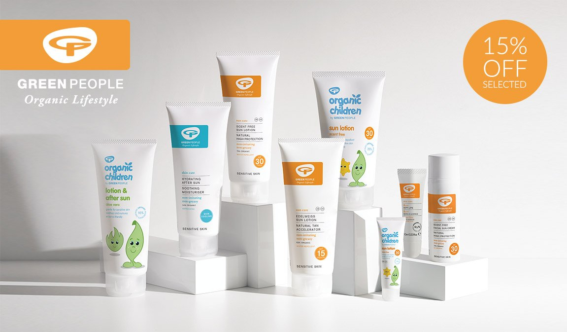 15% Off Selected Green People Suncare
