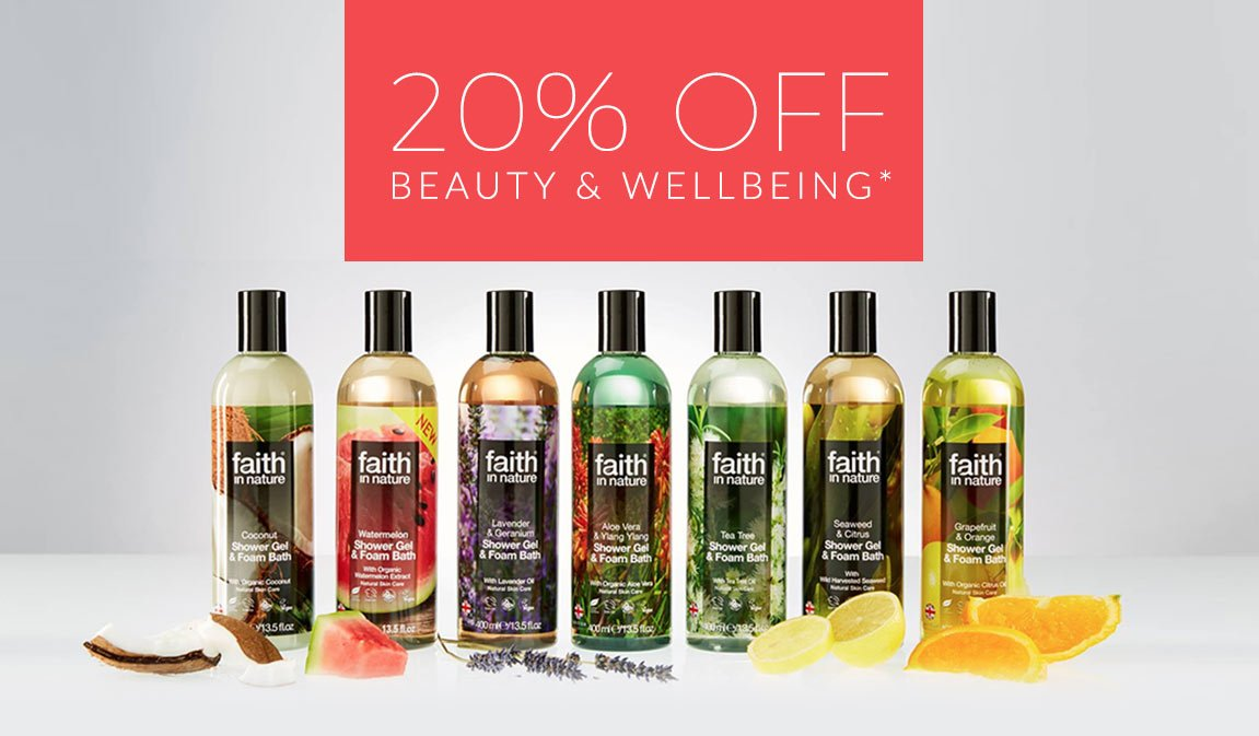20% Off* - Beauty, Health & Wellbeing