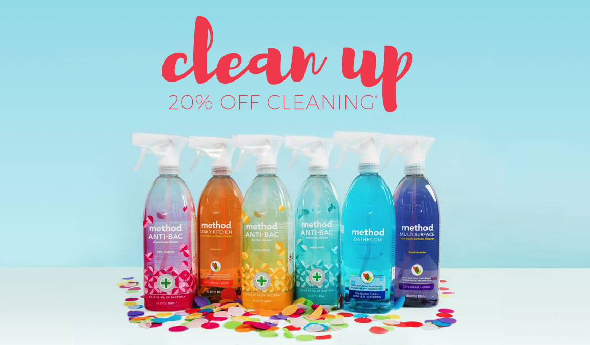 20% Off* Cleaning & Household