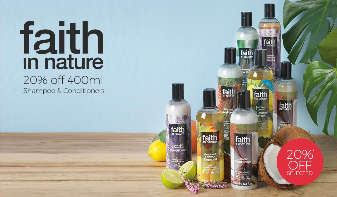 20% Off Selected Faith in Nature