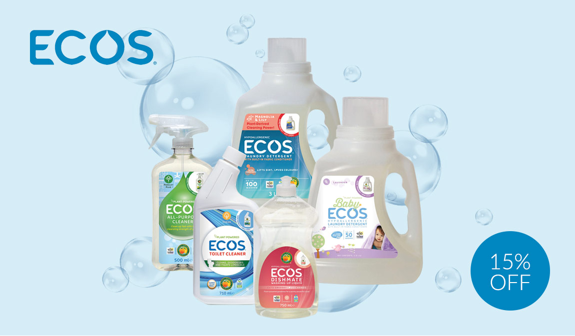 15% Off ECOS Eco Friendly Cleaning