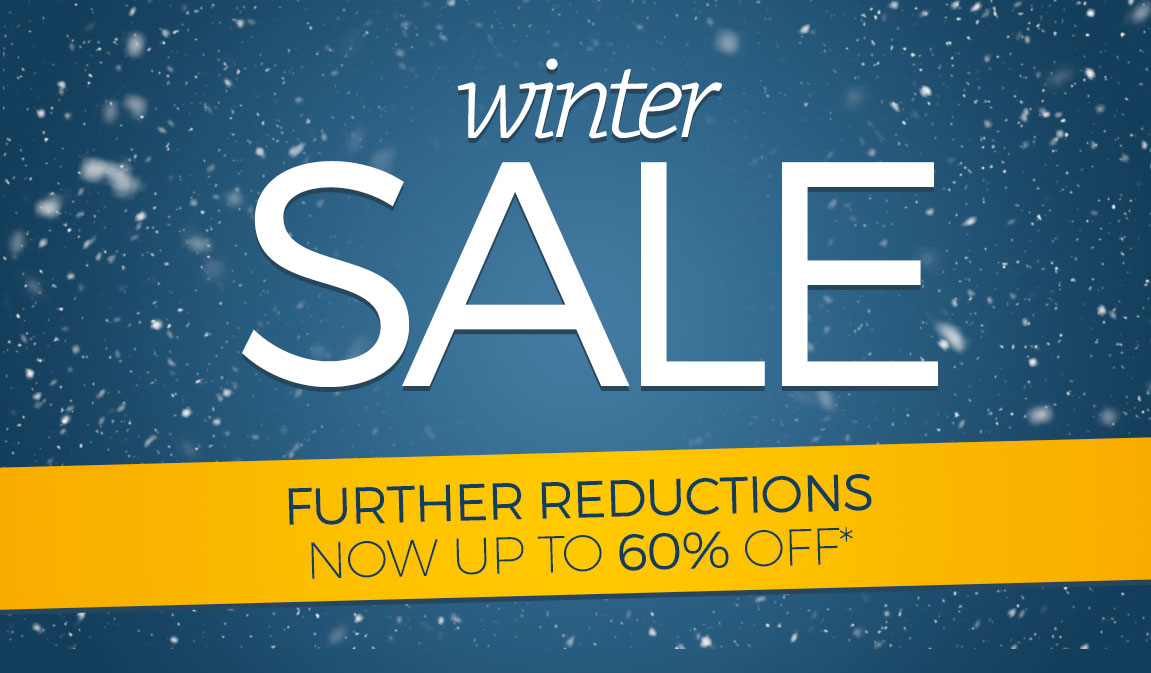 Further Reductions - Winter Sale - up to 60% off