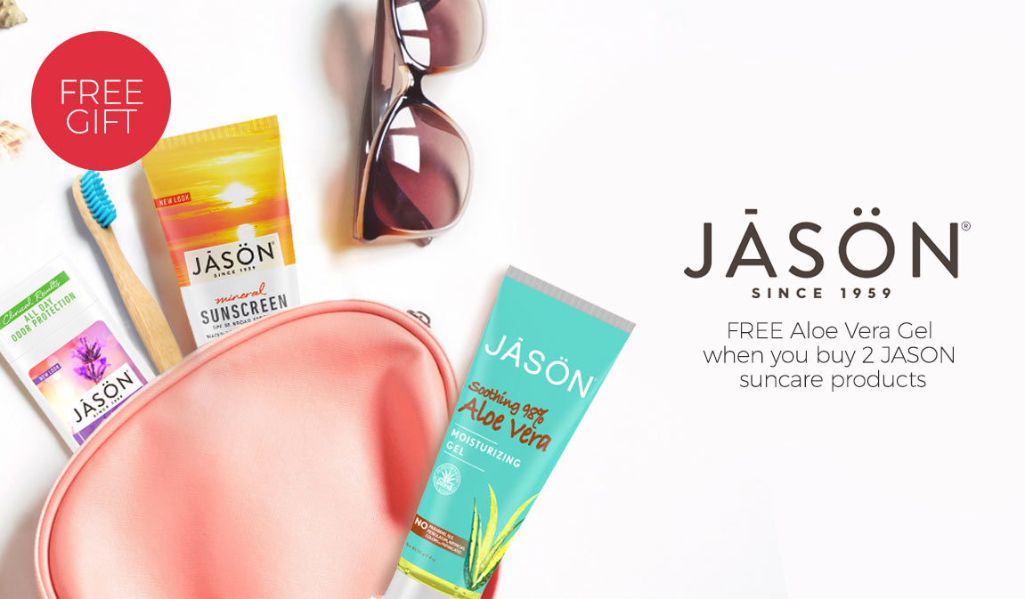 FREE Aloe Vera Gel - When You Buy 2 Jason Suncare Products