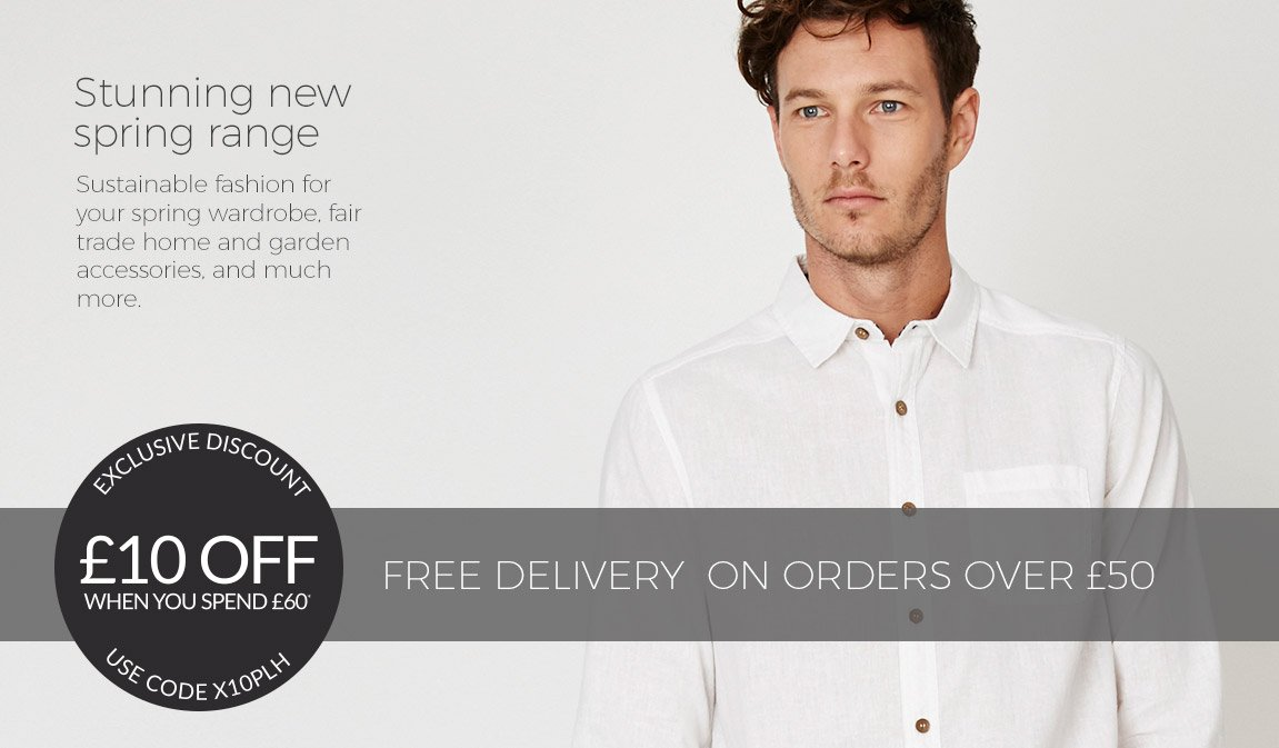 New Spring Mens Fashion - Save £10 When You Spend £60*