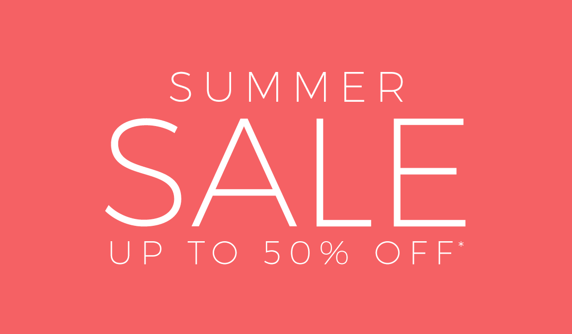 Summer Sale - Up To 50% Off*