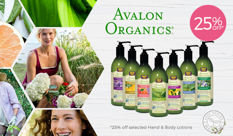 25% Off Selected Avalon Organics Hand & Body*