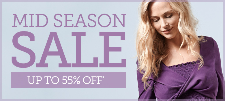 Up to 55% off in our mid-season sale
