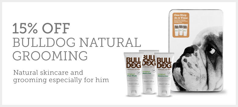 15% off Bulldog Natural Grooming