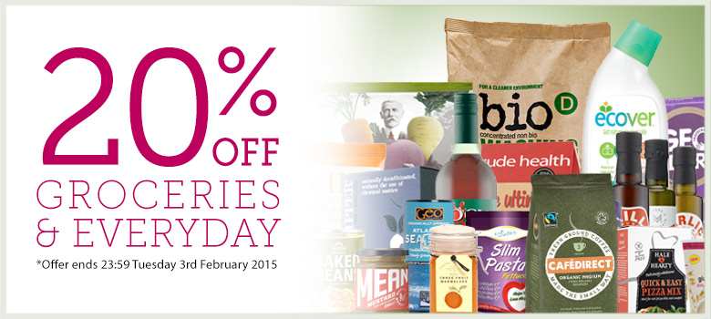 20% off Groceries, Everyday and Household