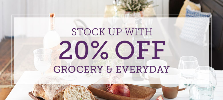 20% off<br />Grocery & Everyday