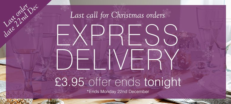 Express Delivery<br /> ends tonight!
