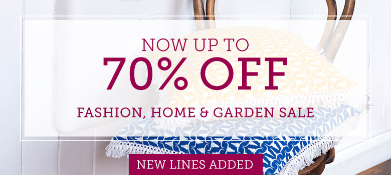 Now up to 70% off in our <br />Fashion & Home Sale