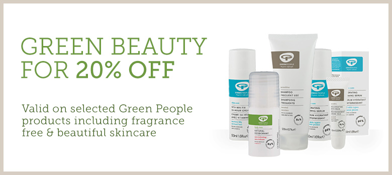 20% off selected Green People skincare