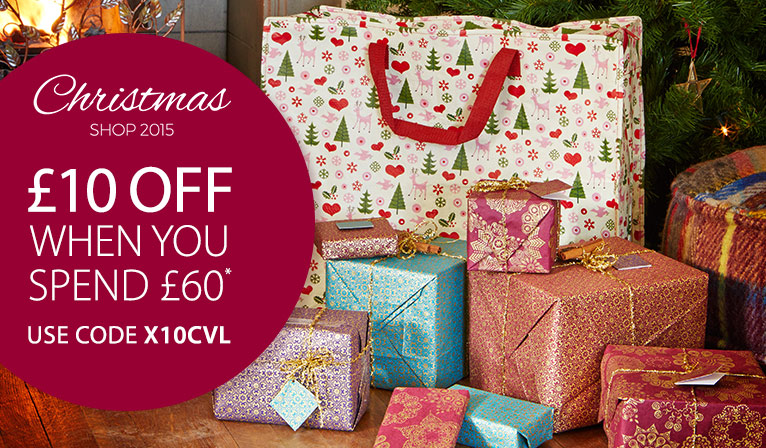 �10 off when you spend �60 - plus shop our Christmas Gift Guide