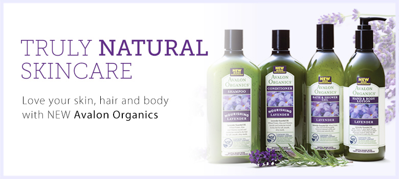 NEW Avalon Organics skin and body care