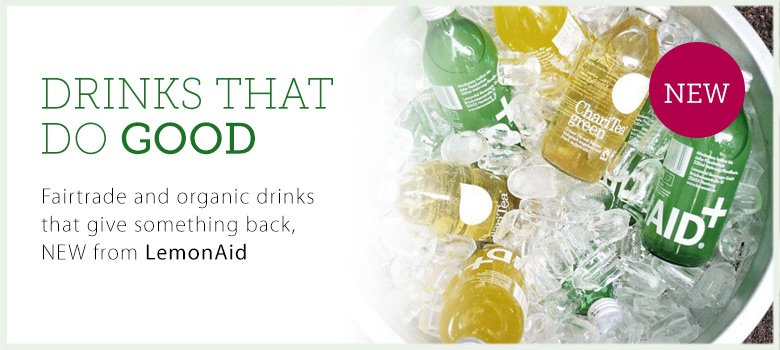 Drinks that do good - NEW ChariTea and LemonAid