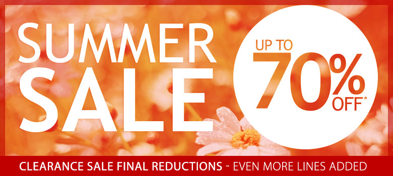 Summer Sale Now On - Up to 70% off across the store*
