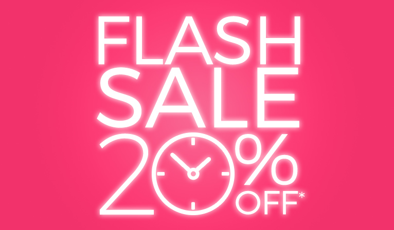 Flash Sale - 20% off almost everything in store!
